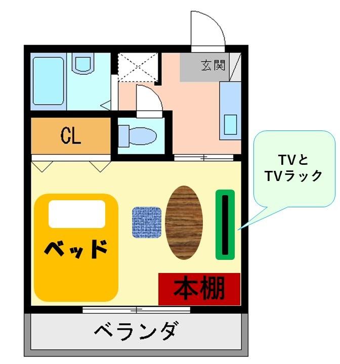 6畳のお部屋のレイアウト例