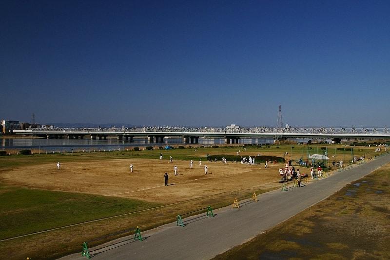 海老江近くの淀川