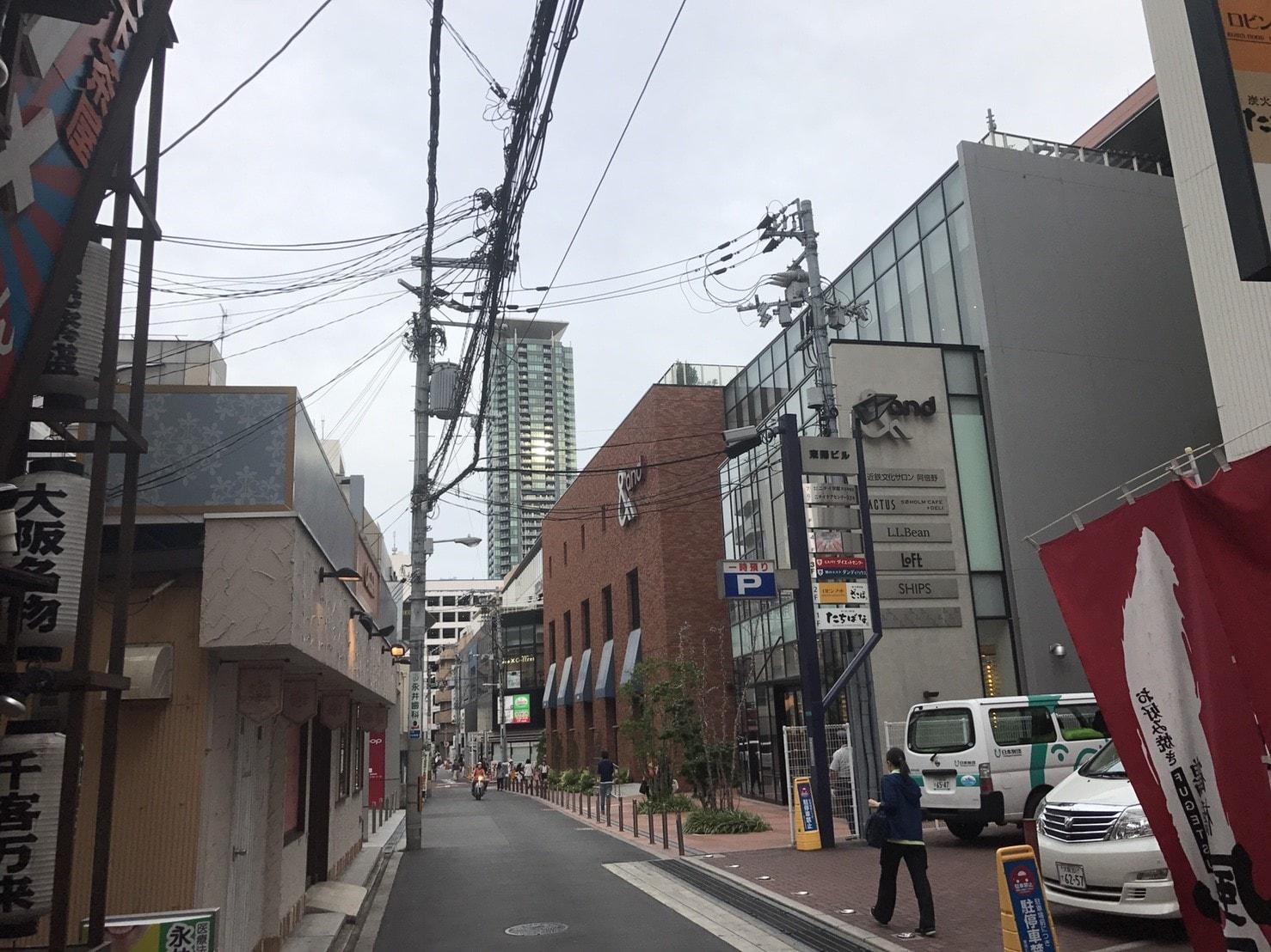 繁華街の裏通り