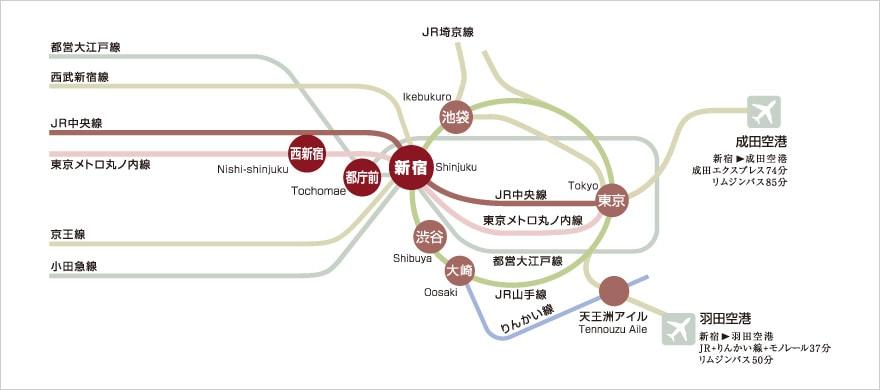 西新宿路線図