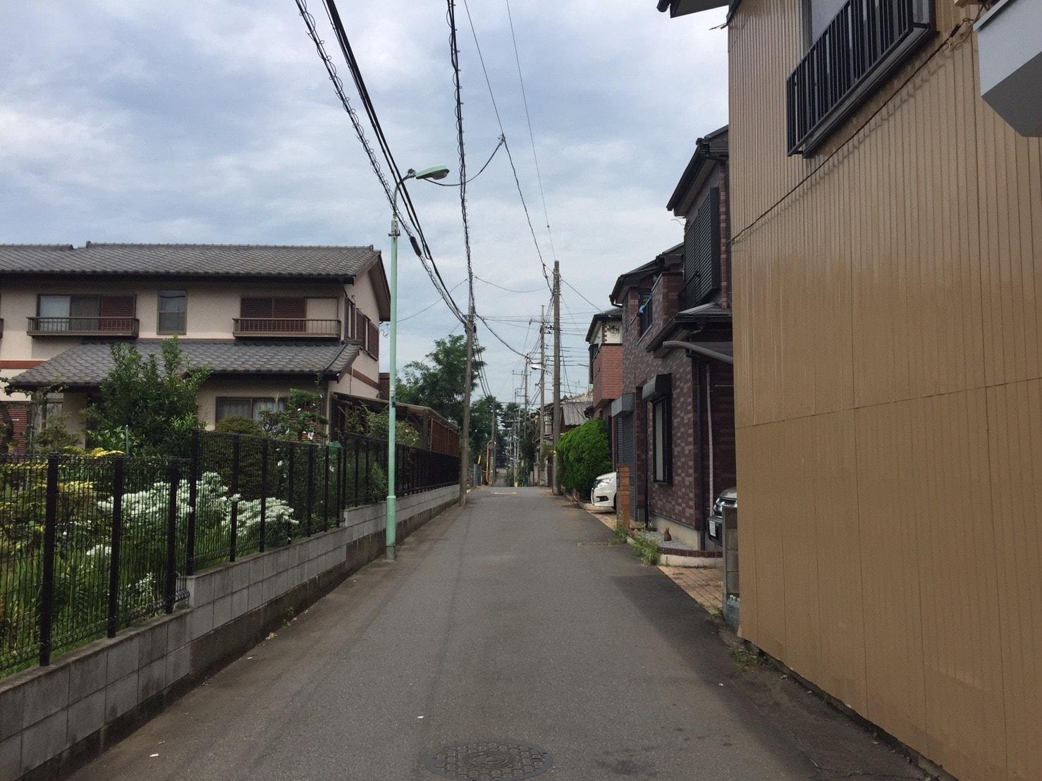 北側の閑静な住宅街
