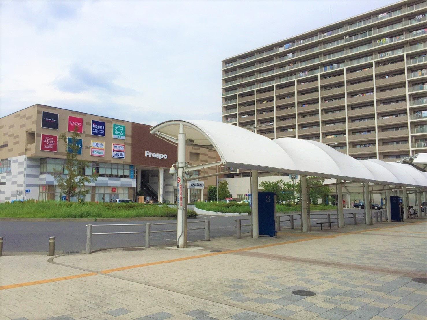 八潮駅北口側の風景