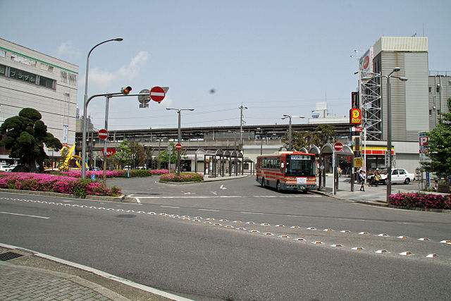 茂原駅前の風景
