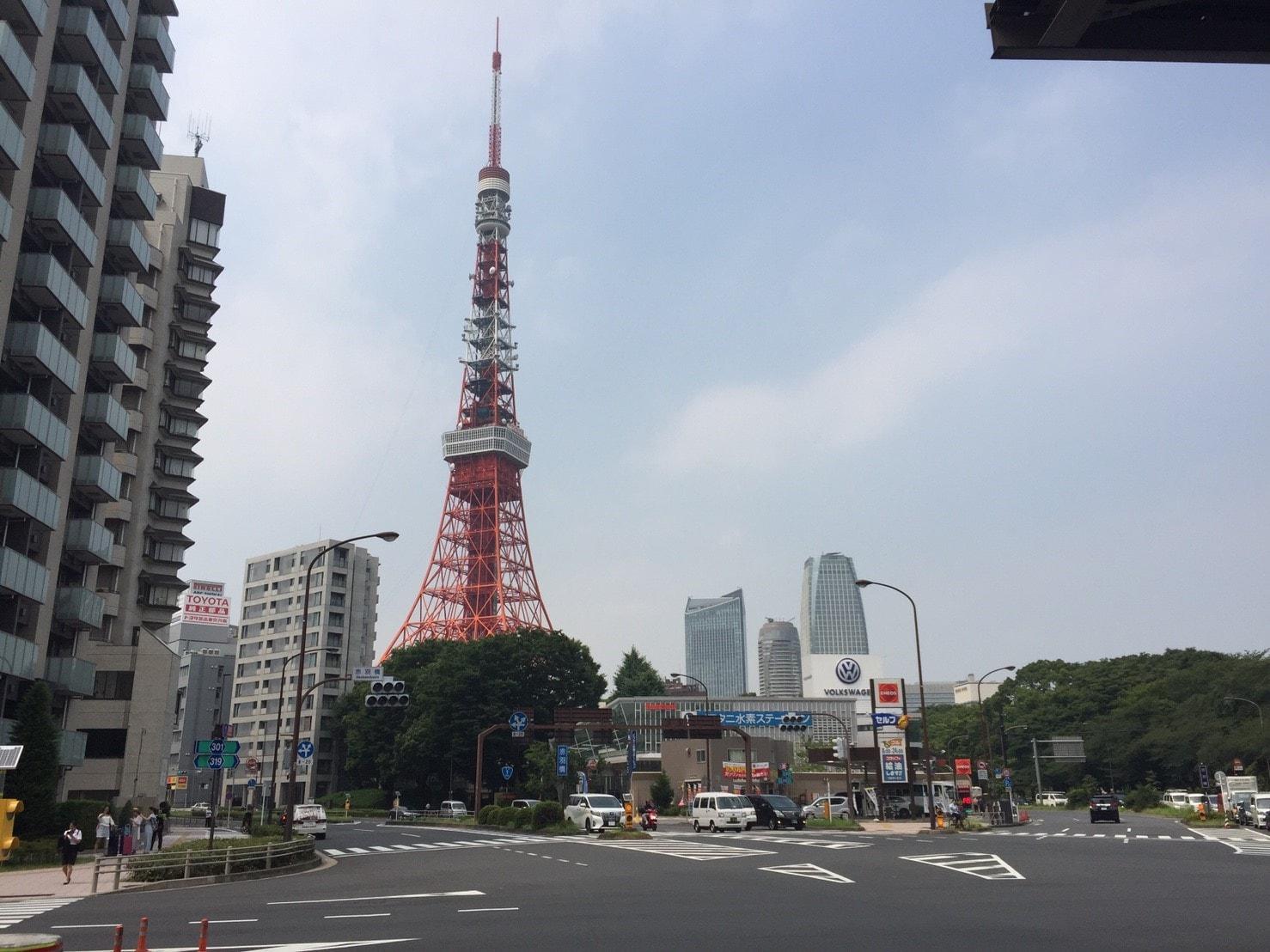 東京タワーが望める街並み