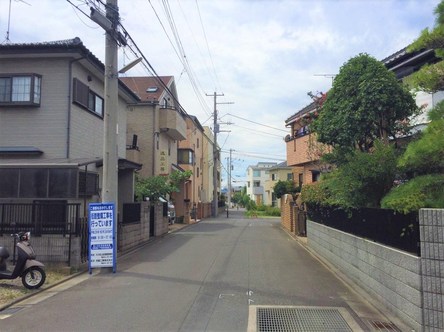 鳩ヶ谷駅周辺の戸建て住宅街