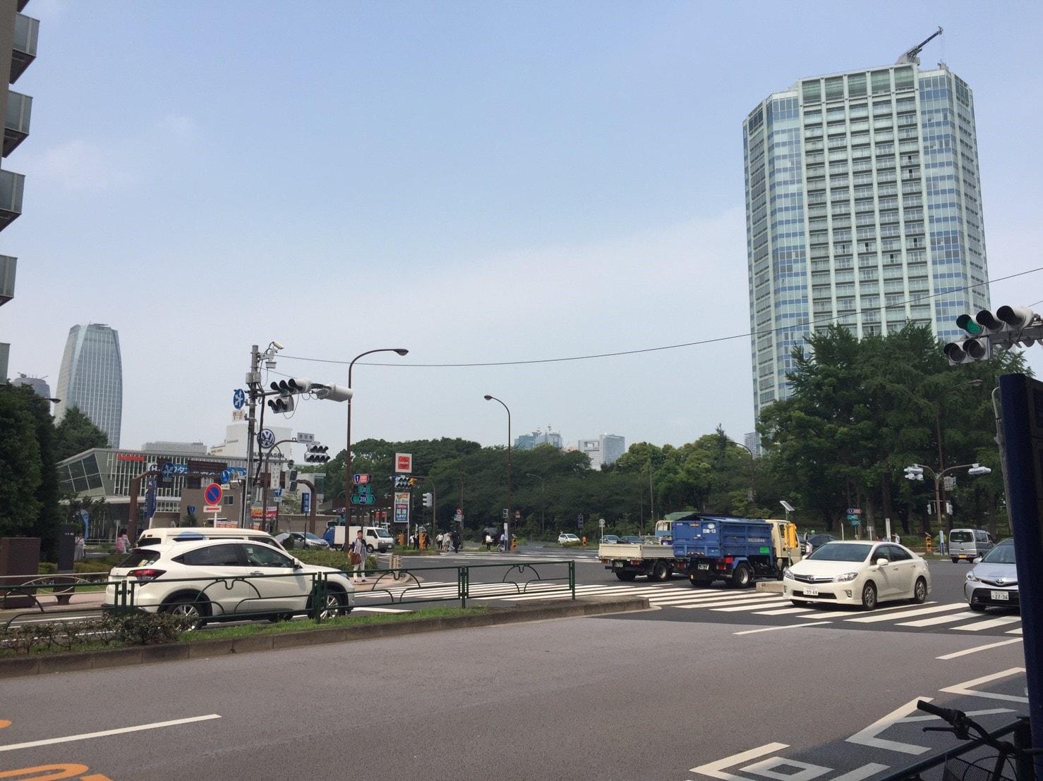 桜田通り沿いの様子