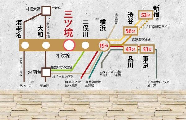 三ツ境駅路線図