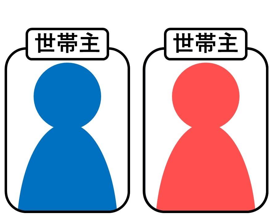 二人とも世帯主になるイメージ図