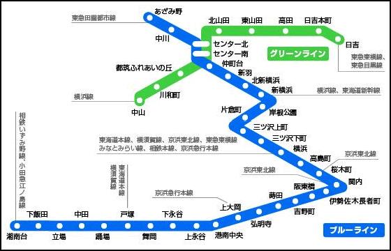 地下鉄ブルーライン路線図