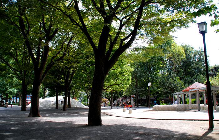 白銀公園の風景