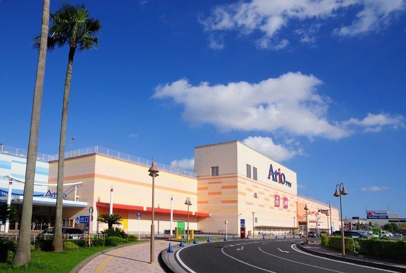 海浜エリアの買物施設