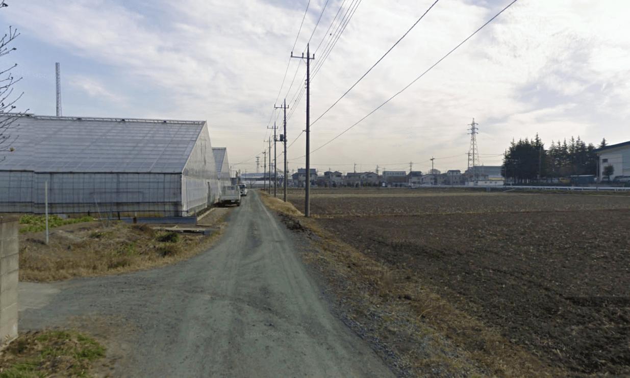 畑が広がる街並み