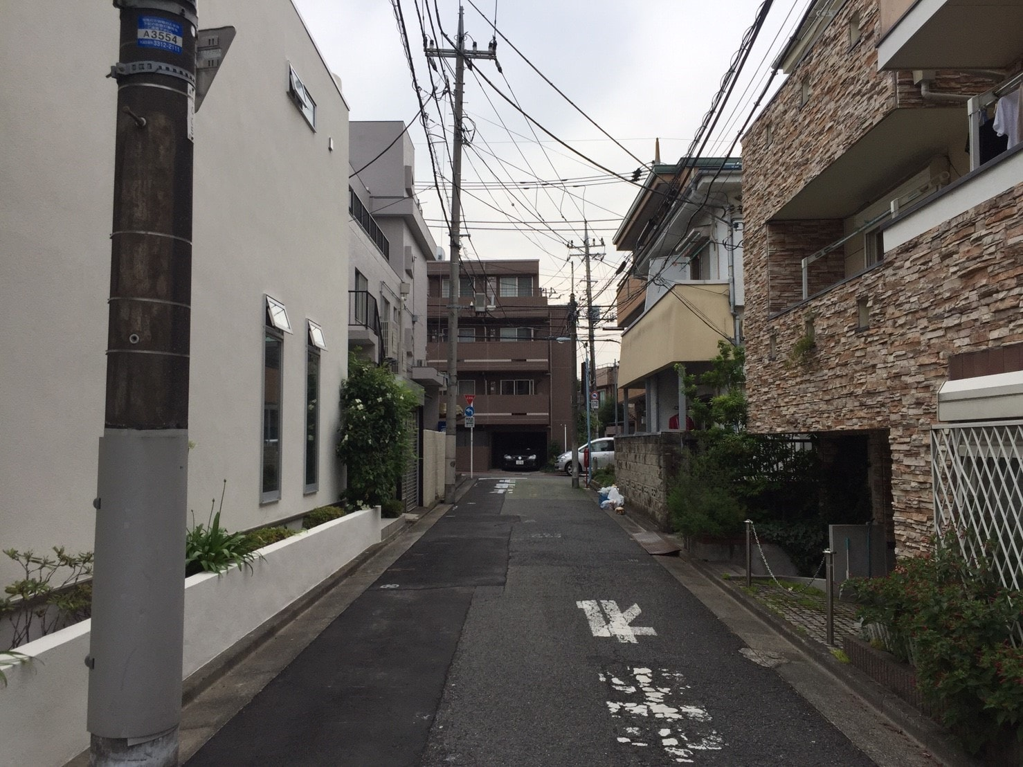 南口側の住宅街