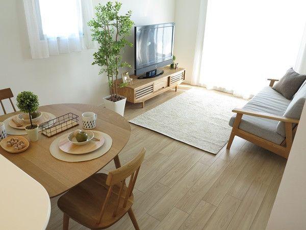 コンパクトな家具を置いたレイアウ例