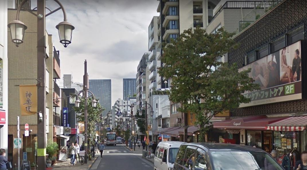 神楽坂通りの風景