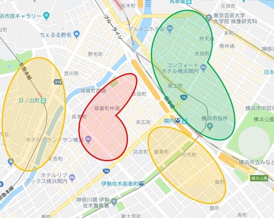 関内駅周辺の治安