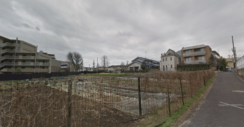 畑が混在する住宅街