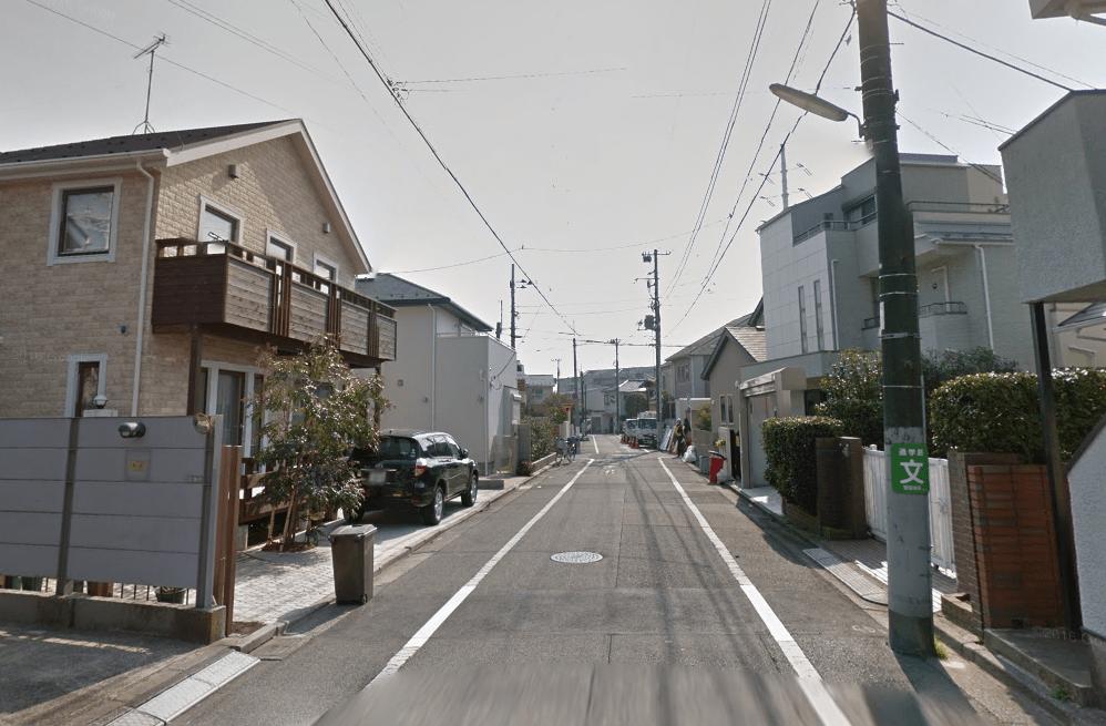 上品な一戸建てが多い住宅街