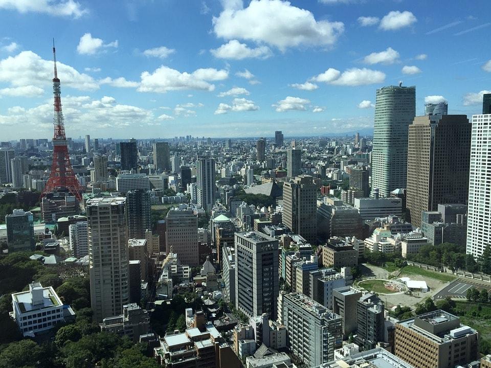 展望台から撮影した東京の風景