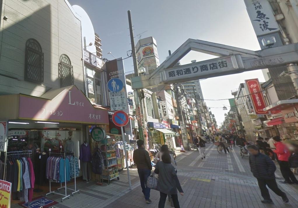 昭和通り商店街の風景