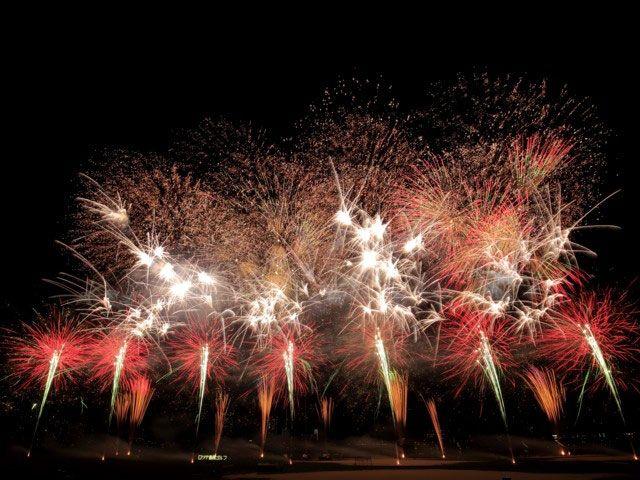 江戸川花火大会の風景