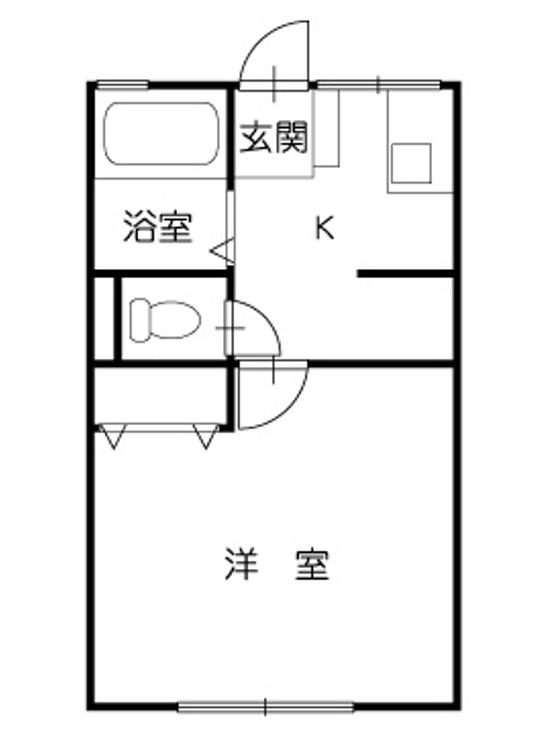 柱が無いアパートの例