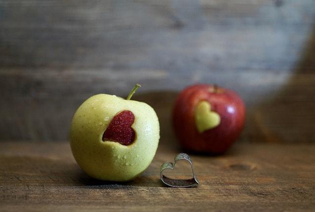 ハート型のりんご