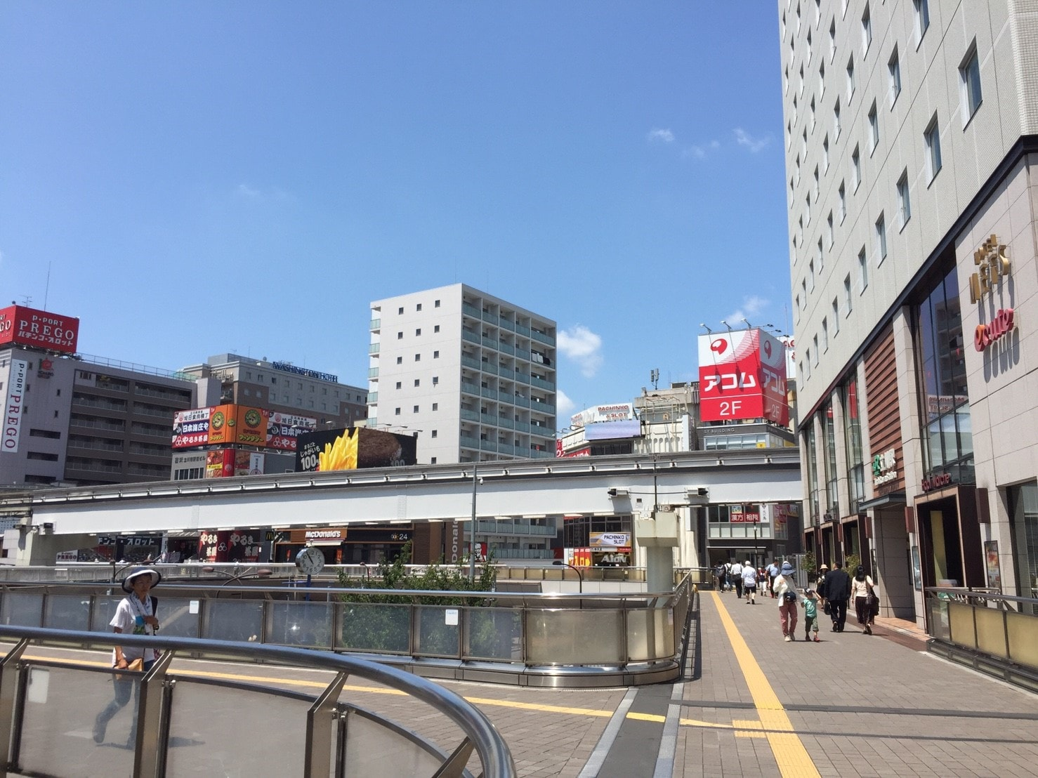 立川駅南口の様子
