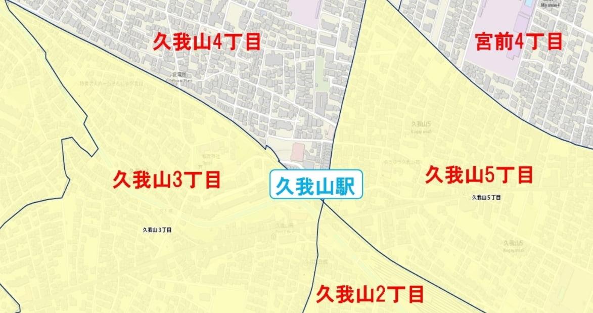久我山駅周辺の粗暴犯の犯罪件数マップ