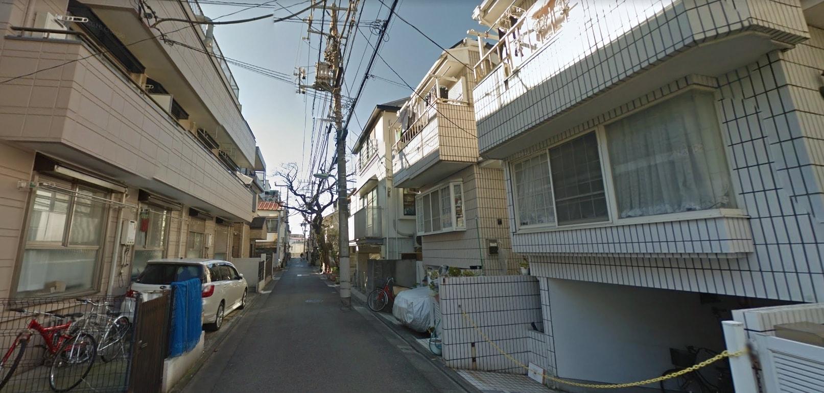 西大井駅西側の住宅街