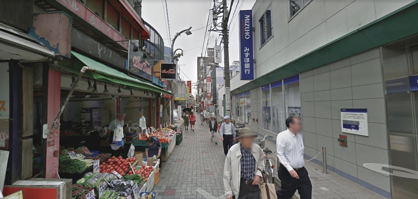商店街側の様子