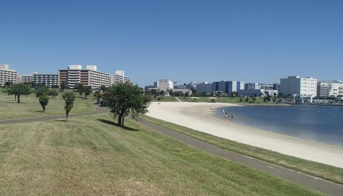 大森ふるさとの浜辺公園の風景