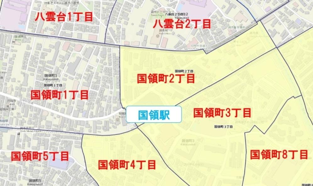 国領駅周辺の粗暴犯の犯罪件数マップ