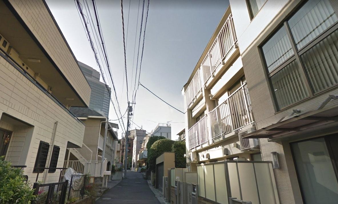 恵比寿ガーデンプレイスから離れた住宅街