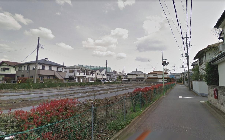 畑が残っている住宅街