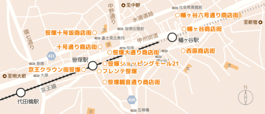笹塚商店街マップ
