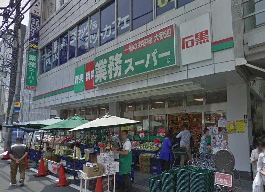 商店街のスーパー