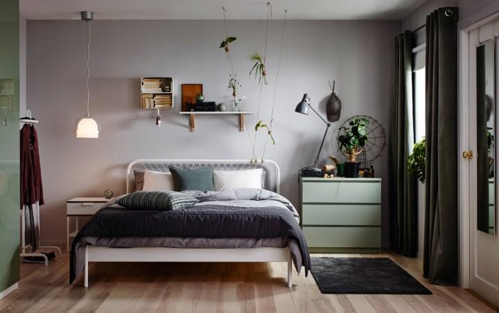 落ち着きのある寝室