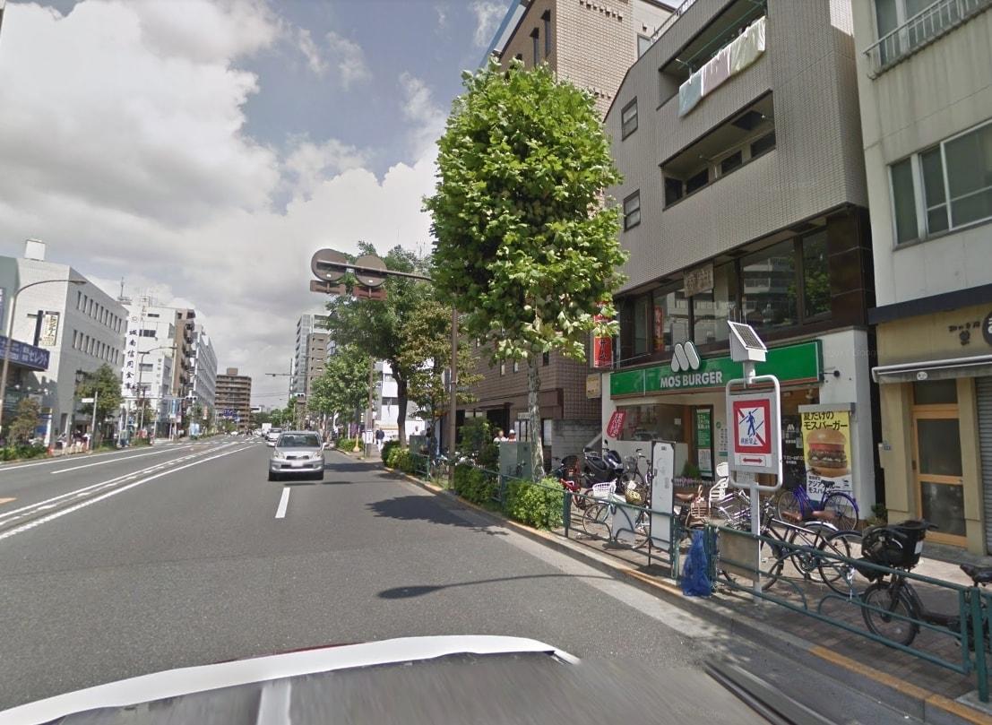 中原街道沿いの街並み