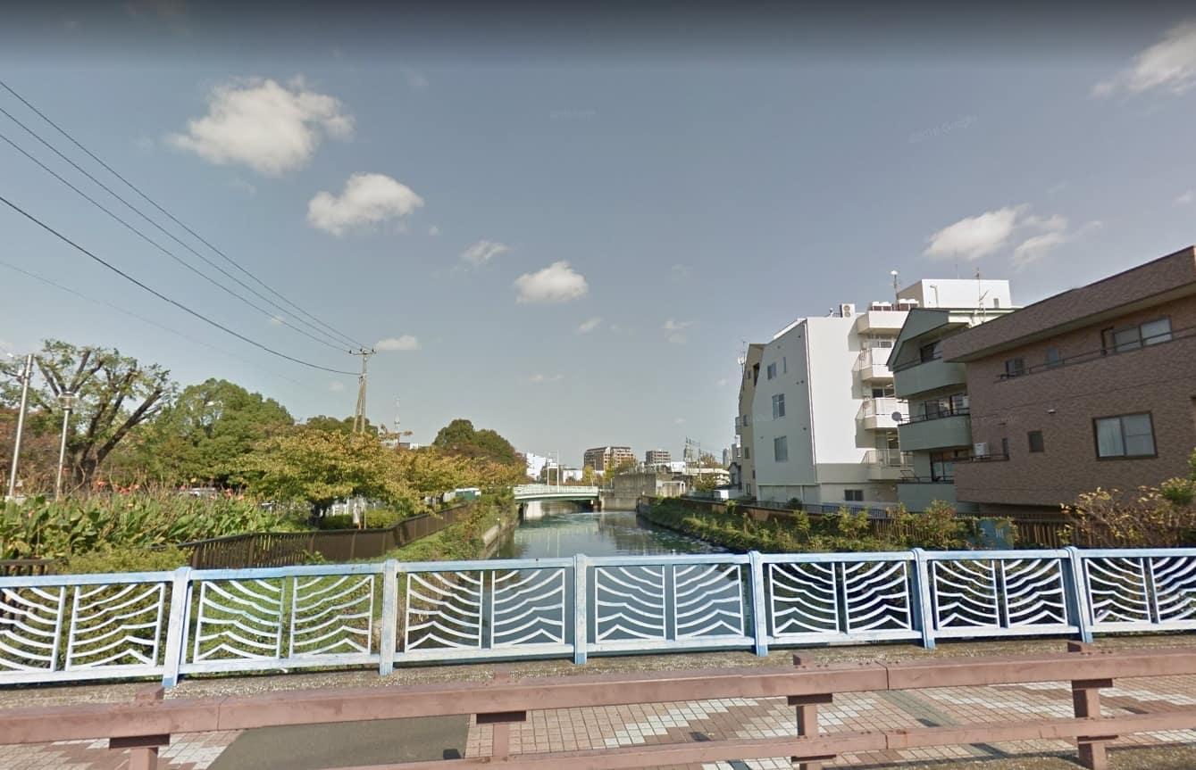 隅田川が流れている様子