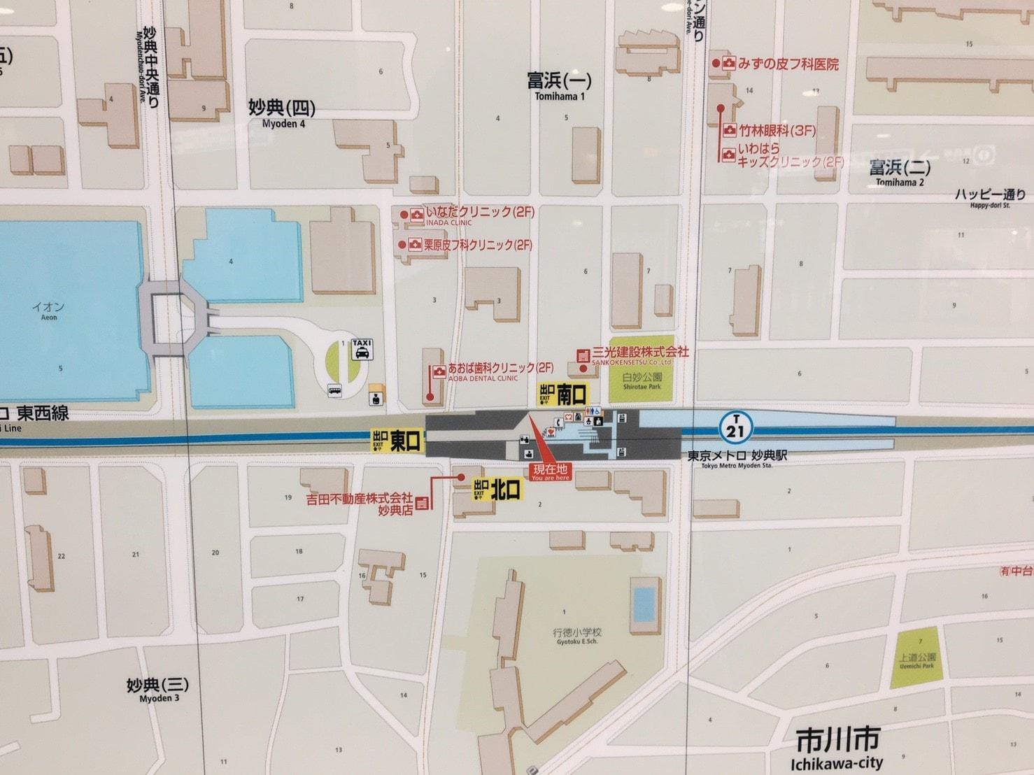 妙典駅周辺図