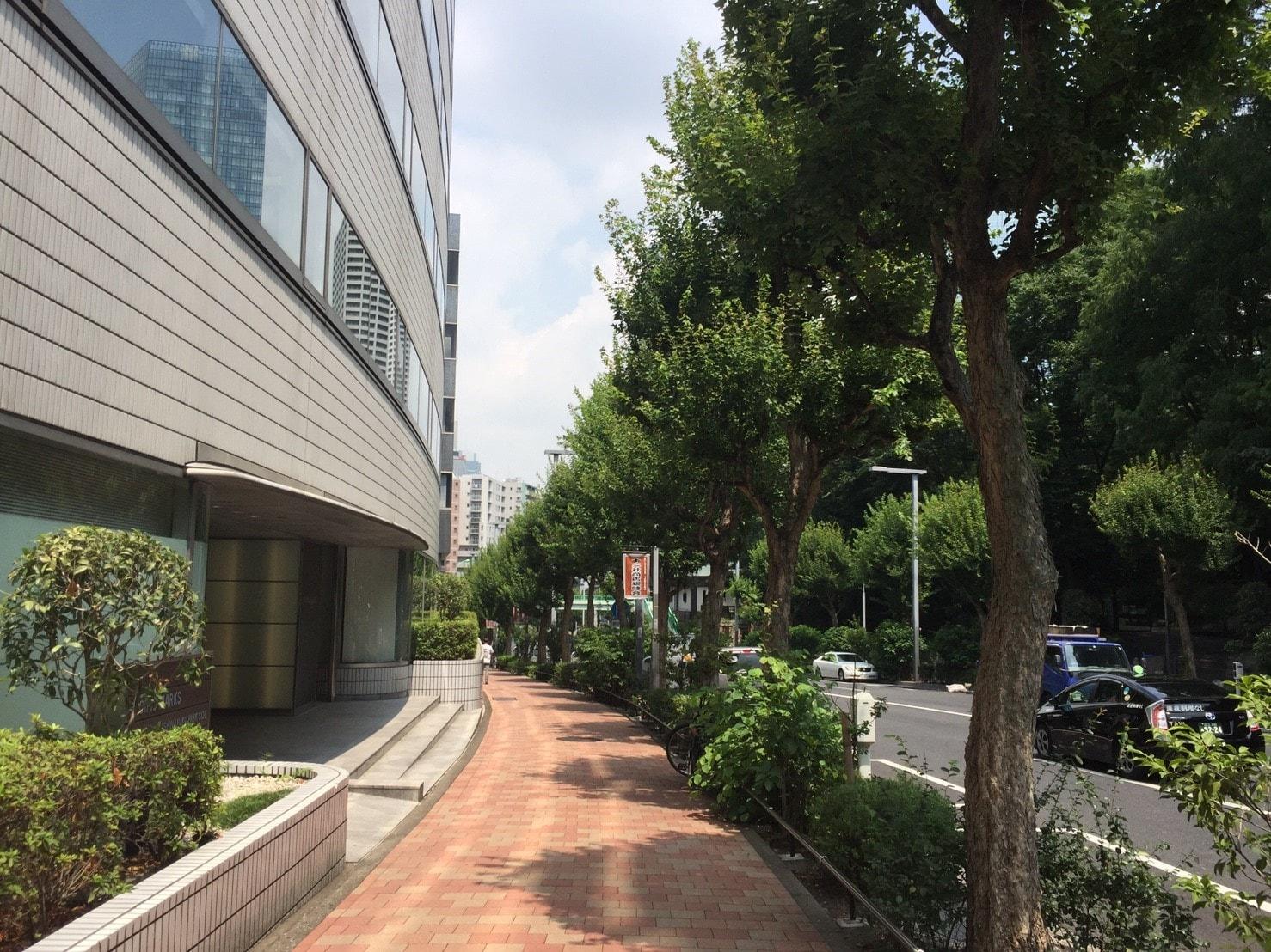 新宿公園周辺の街並み