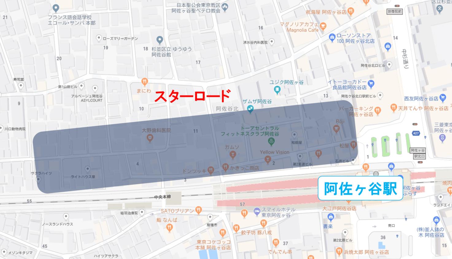 スターロードの地図