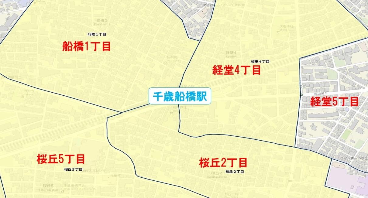 千歳船橋駅周辺の粗暴犯の犯罪件数マップ