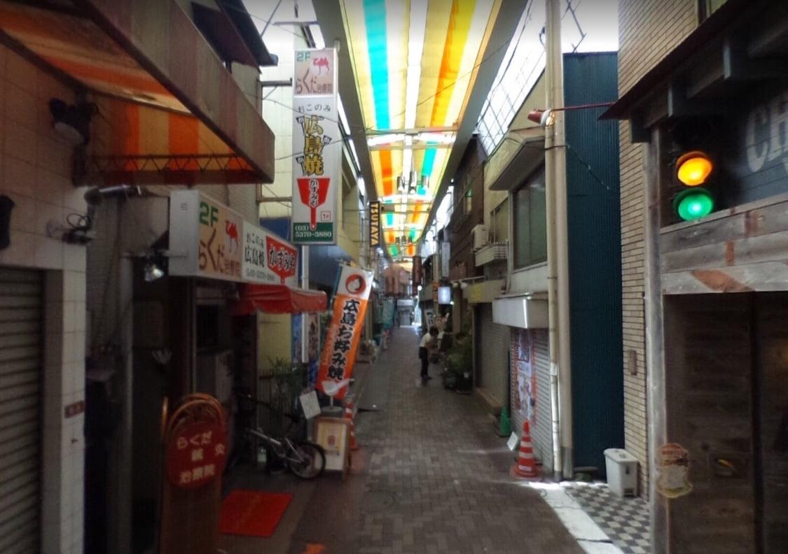 西荻窪仲通商店街の道