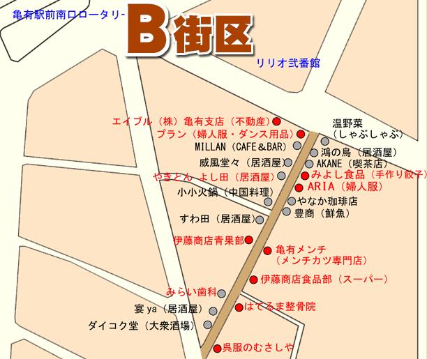 ゆうろーどB地区マップ
