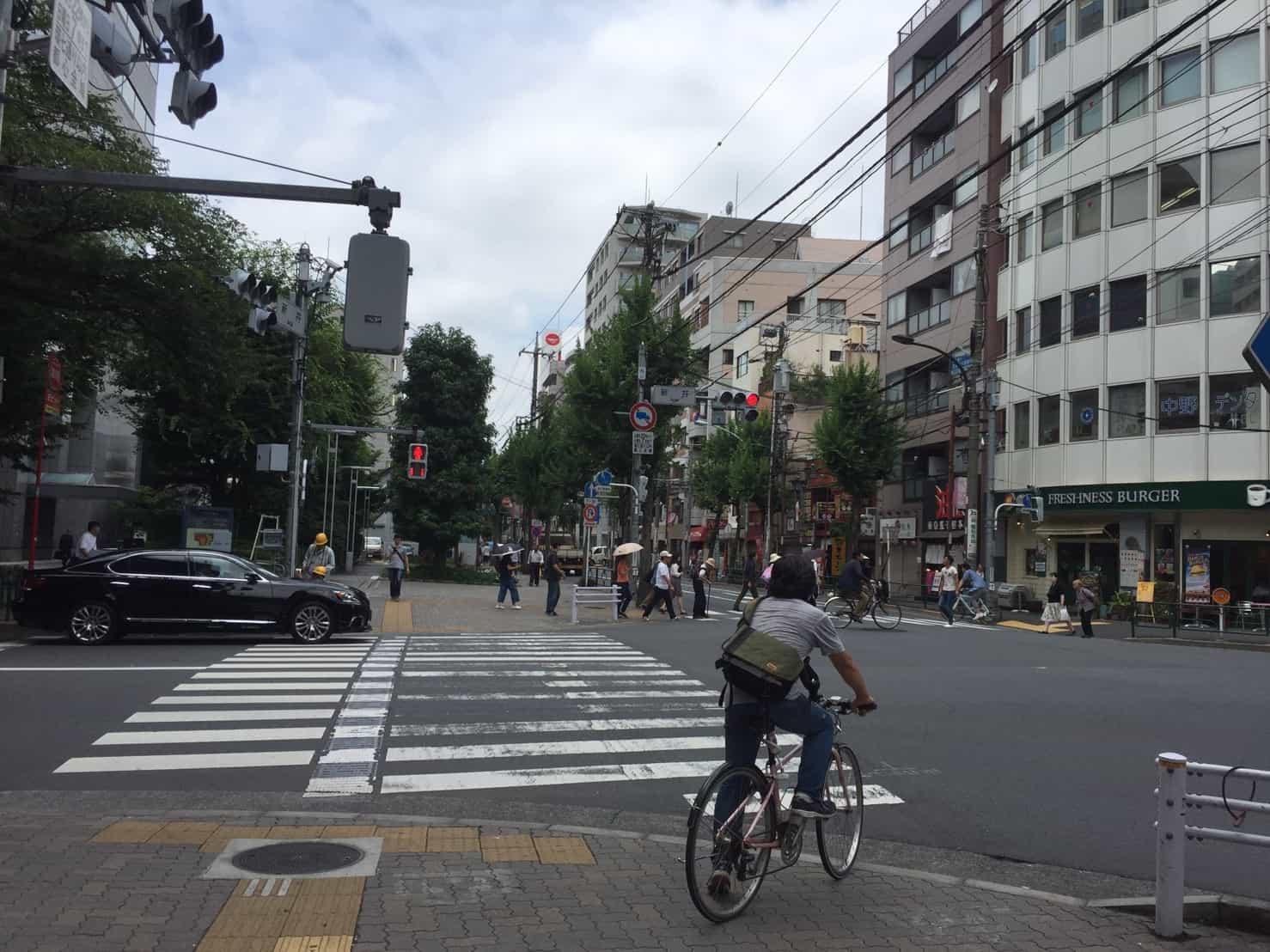 中野通りと早稲田通りの交差点