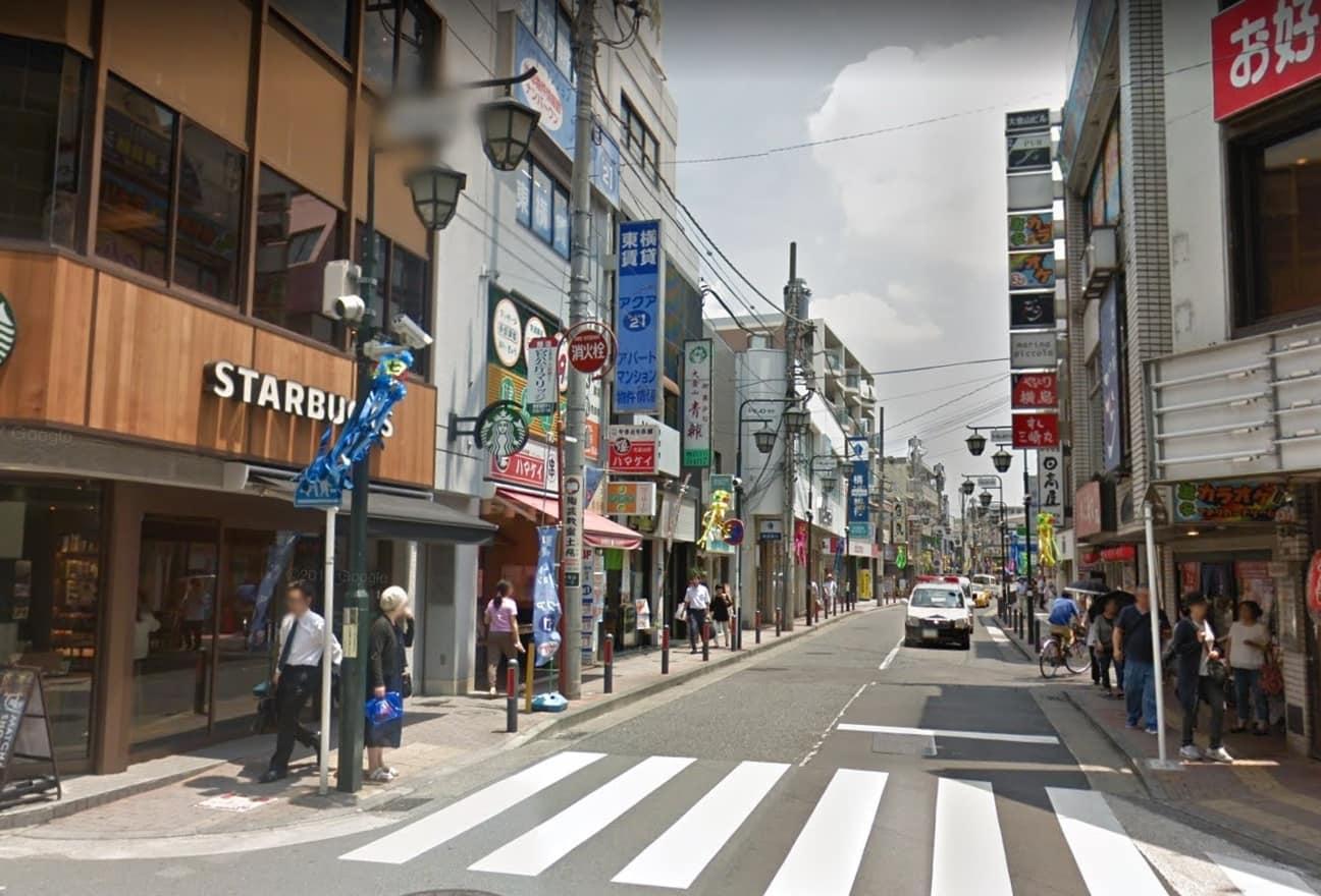 大倉山駅東側の様子