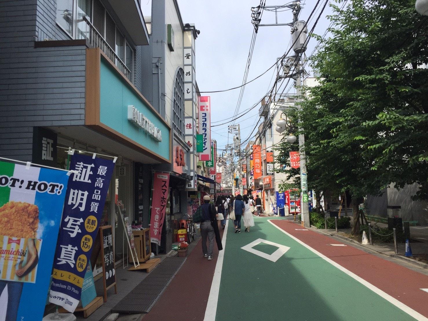 下高井戸駅西口の風景