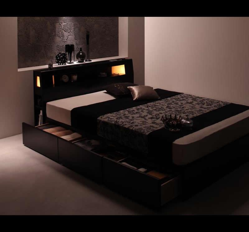 大人っぽい落ち着いたベッド